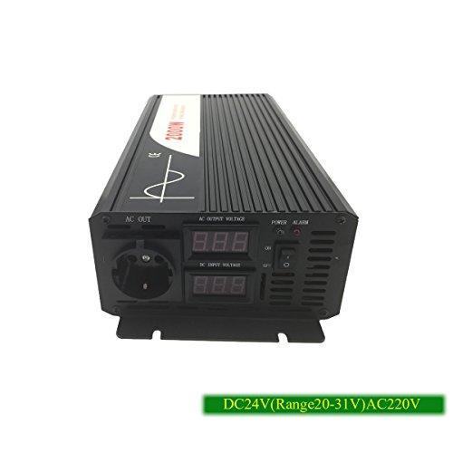 XIJIA 2000 W (Peak 4000 W) sinusoïdale Pure Power Inverter DC 12 V 24 V 48 V vers AC 220~230 V 50 HZ Solaire convertisseur pour Un Usage Domestique de Voiture (dc24v to AC 220v)