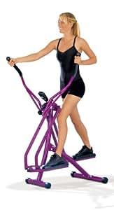 TV Top Ventes 00878 Vélo elliptique de Nordic Walking Aubergine