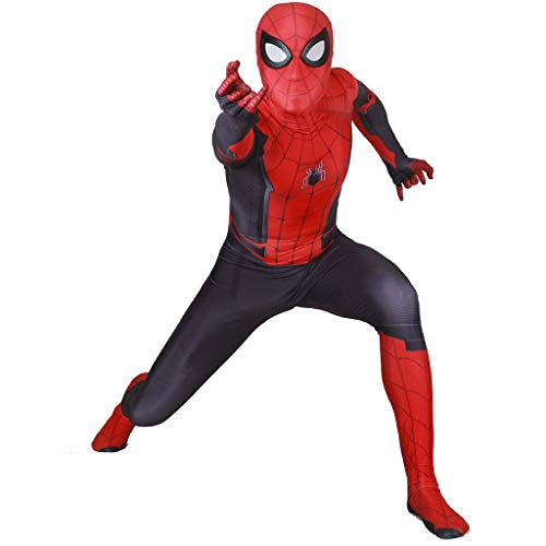 Für Spiderman Erwachsenen Kostüm Bodysuit - YKJL Halloween Spider-Man Bodysuit Erwachsenen Kostüm Spiderman Kostüm Marvel Theme Party Maskerade Overall für fern von Zuhause,Expedition1,XXXL