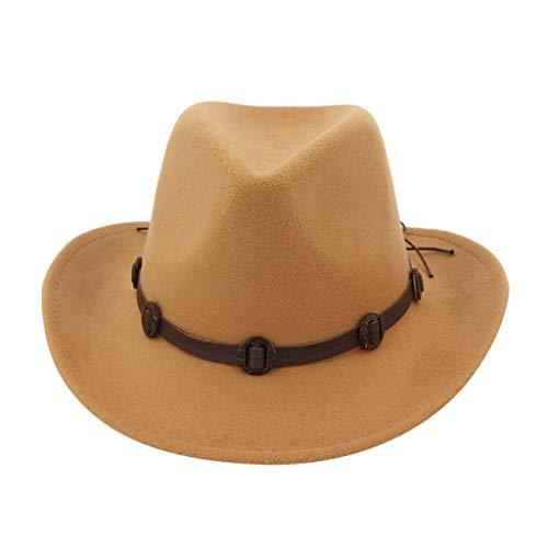 Realde Herren Damen Western Cowboyhut Beiläufige Liebhaber Warme Einfarbig Slouch Hut Sonnenhut Perfekt für den Reisen Im Freien Frühjahr Sommer Flexibler Warm Cap