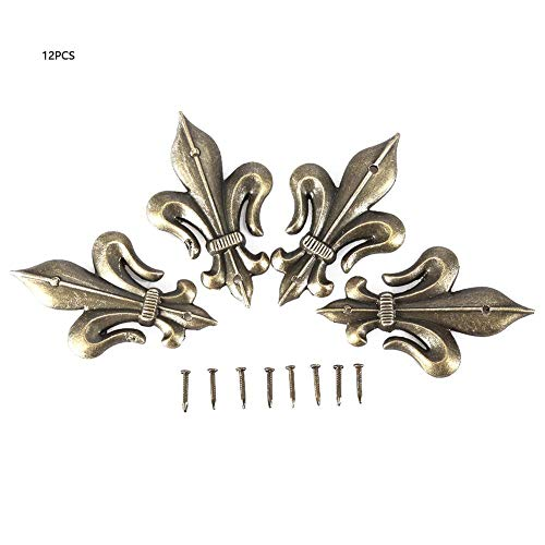 12 STÜCKE Ecke Dekore Antiken Stil Schild Form Dekorative Eckenschützer Holz Schmuckschatulle Sammelalbum Album Ecke Decor(Small) -