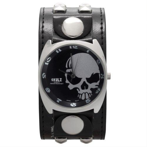 gro-silber-seite-totenkopf-band-armbanduhr