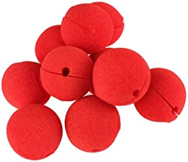 Zibuyu 10 Pcs Party Sponge Ball Red Clown Magic Nose for Halloween Masquerade Ball