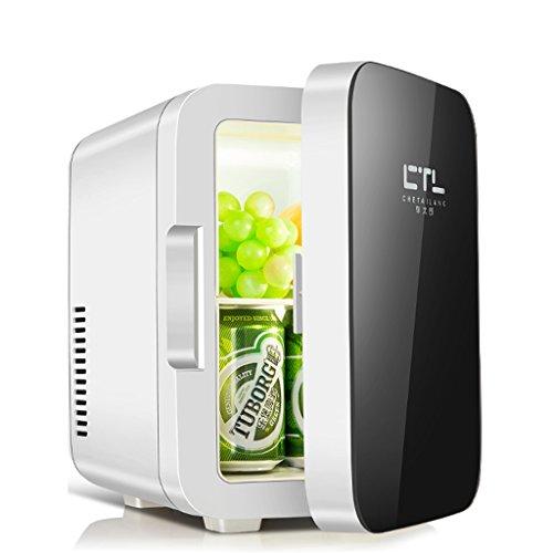 Sunjun 6L Kühlung Auto Kühlschrank, kalt und warmes Auto Dual-Use einfach zu 220V AC / 12V DC zu tragen ( Farbe : Schwarz )