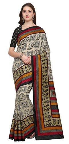 Rajnandini Cream Silk Printed Traditional Saree