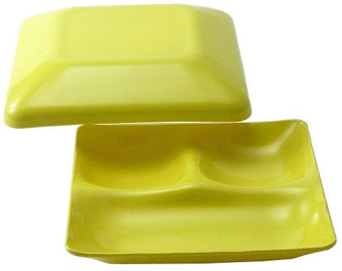 table de d?jeuner Shoku-ben 181 x 181 x 55mm jaune ZA-410328 (Japon import / Le paquet et le manuel sont ?crites en japonais)