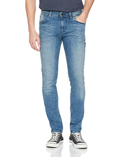 TOM TAILOR DENIM Herren Jeans Skinny Culver Light Stone Wash, Blau (Light Stone Wash Denim 1051), W30/L32 (Herstellergröße: 30)