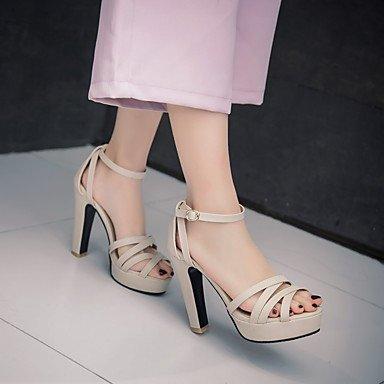 LvYuan Damen-Sandalen-Outddor Büro Lässig-PU-Blockabsatz-Andere-Schwarz Rosa Weiß Beige Pink