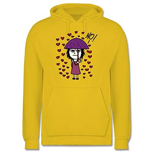 Comic Shirts - Love? No! - Männer Premium Kapuzenpullover / Hoodie Gelb