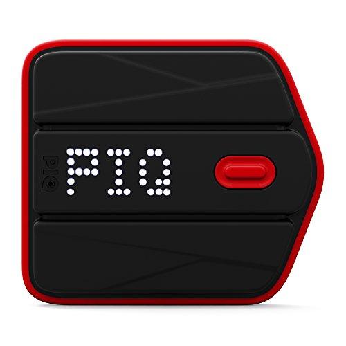 piq sensore multisport agganciabile, analizzatore dati, collegamento in wireless, compatibile ios e android, accessori non inclusi venduti separatamente in base al tipo di sport (golf, tennis, sci, kitesurfing/kiteboarding), nero/rosso