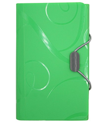 hossty 13Taschen Akkordeon A6Datei Ordner Displayschutzfolie Fächermappe Dokument Ordner Organizer Display Buch sortiert Farben, 17,3x 10,9cm A6 grün (Rezept-buch Veranstalter)
