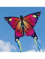 Schmetterling Drachen - Butterfly Pink - Einleiner Flugdrachen für Kinder ab 3 Jahren - 58x40cm - inkl. Drachenschnur - fertig aufgebaut - sofort flugbereit!