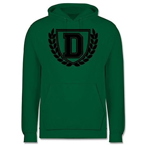 Anfangsbuchstaben - D Collegestyle - Herren Hoodie Grün