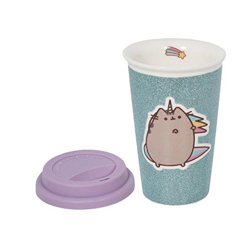Pusheen Glitter unicorno Ceramic Travel Mug