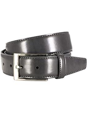 LINDENMANN- Cinturón de cuero para hombre , gris, 151, tamaño / tamaño: 100