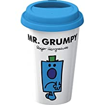 Creative Tops Double Walled Porcelain Mr. Men Mr. Grumpy Take Away Travel Mug Plus Silicone Lid, Multi-Colour by Creative Tops