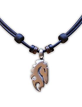 HANA LIMA ® Lederkette Halskette Mädchen Pferd Pferdekette Reiten