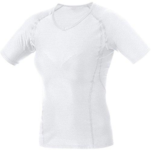 GORE WEAR Damen Kurzarm Essentials Base Layer Shirt, weiß, 38