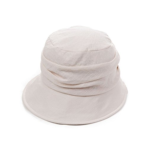 SIGGI SIGGI Faltbarer Damen Sonnenhut Sommerhut mit Kinnband UV 50+ Schutz Beige