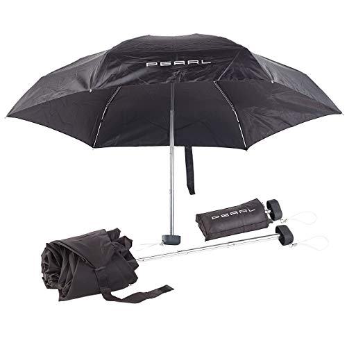 PEARL Mini Schirm: Mini-Regenschirm mit Transporthülle, extraleicht & superkompakt, 16 cm (Ultraleichter Regenschirm)