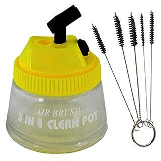 Amur Professional Airbrush Holder H2 Airbrush Gun Holder for Airbrush Compressors Airbrush Guns Including Cleaning Brush Set Profi-airbrush Reinigungsset 3 in 1 Cleaningpot