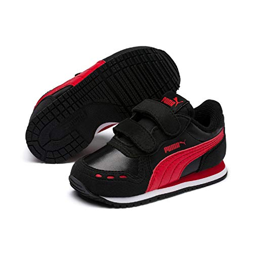 Puma Unisex-Kinder Cabana Racer SL V Inf Sneaker, Schwarz Black-High Risk Red White, 24 EU