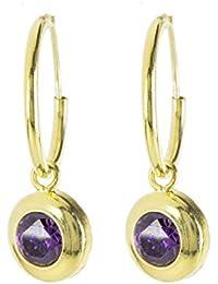 Córdoba Jewels | Pendientes en plata de Ley 925 bañada en oro. Diseño Aro Oro