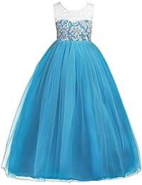 Abito Bambina Principessa Vestito da Cerimonia per la Damigella Floreale  Matrimonio Carnevale Tutu Compleanno Bambina Festa 0bbcd9e9685