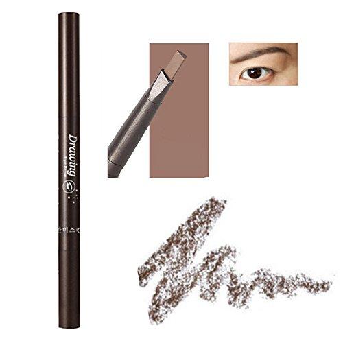 MIOIM ® Wasserdicht Damen Mädchen Eyeliner Eyebrow Pen mit Kamm Makeup Tools Automatische Dreh Augenbrauenstift Schönheits Werkzeuge Augenbrauen Stift
