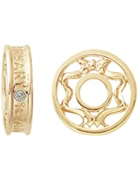 STORYWHEELS Y227DYELLOW GOLD WHEEL - Abalorio de oro amarillo de 14 quilates con diamante (.15)