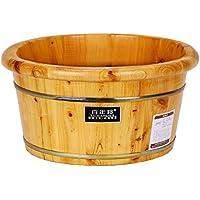HINEW cedro pie baño spa casa madera cuencos ollas de madera 0.21m alto