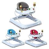 COSTWAY Lauflernhilfe Baby Walker Gehfrei Laufhilfe Lauflernwagen Laufstuhl Höhenverstellbar
