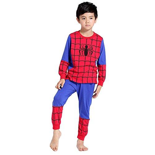 (Jungs Spider-Man Spiderman 3-9 Jahre alte Hose Pyjama für Kinder mit Elastischen Manschette Lange ärmel (3y-95cm))