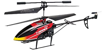 Flying Gadgets Mini 3.5 Channel Radio Controlled (RC) Flying Helicopter Toy in Orange/ Red