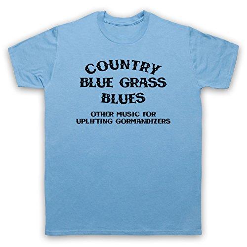 Inspiriert durch CBGB OMFUG Country Blue Grass Blues Logo Unofficial Herren T-Shirt Hellblau