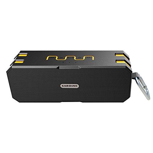 Bluetooth Lautsprecher, Wirezoll Wasserdicht 12W Speaker mit 5200mAh Batterie, Schwarz & Rot ( Bass Verstärker , IP65 Wasserfest , Staubdicht , Stoßfest , Freisprecheinrichtung ,TF Karte Unterstützt ) Schwarz & Gelb