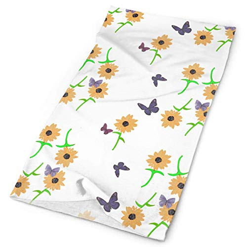 Voxpkrs Sunflower And Butterfly Outdoors & Daily Headwear,Bandana,Stirnband,Neck Gaiter,Balaclava,Helmet Liner For Running Riding Skiing Hiking