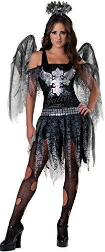 Teenage Mädchen Fallen Dunkler Engel + Wings Halloween Fee Kostüm Kleid Outfit 12-17 jahre - 16-17 years
