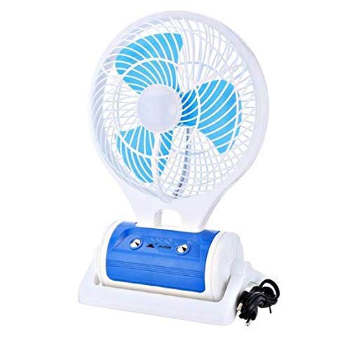 MICMAC Powerful Rechargeable Table Fan with 21 LED Light, table fans for home,table fans small,table fans for kitchen,table fans for home rechargeable,table fans high speed(Assorted Color)