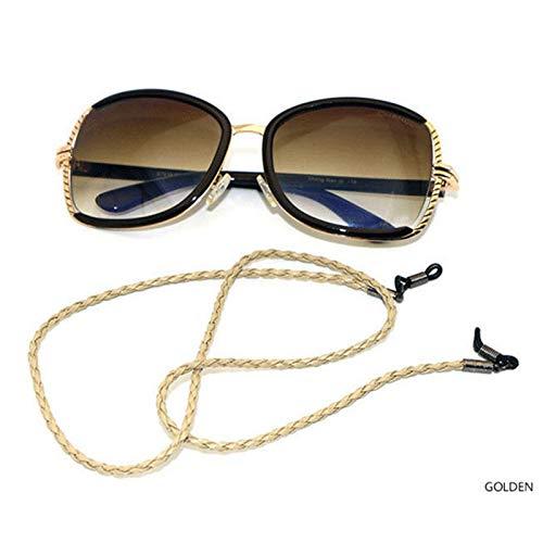 PKWEHKG Geflochtene PU-Leder Anti-Rutsch-Brillen Sonnenbrillen Eyewear Spectacle Lanyard Cords Chain 60Cm Long,c