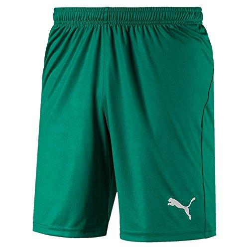 PUMA Herren Liga Shorts Core with Brief Hose, Pepper Green White, S