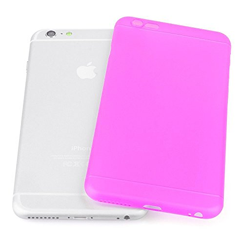 Original TheSmartGuard iPhone 6S-6 Hülle Case Schutzhülle (4,7 Zoll) - Ultra-Slim / Ultra-dünn - NEU mit integriertem Schutz für die Kamera-Linse - Farbe schwarz transparent Ultra dünn - Pink