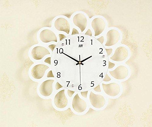 ASL Creative Clock Clock Wand Diagramme Modern Simplicity Mute Wohnzimmer Schlafzimmer Kunst Mode Persönlichkeit Pastoral Holz Umwelt 37x37cm Neu ( Farbe : A ) (Asl-diagramm)