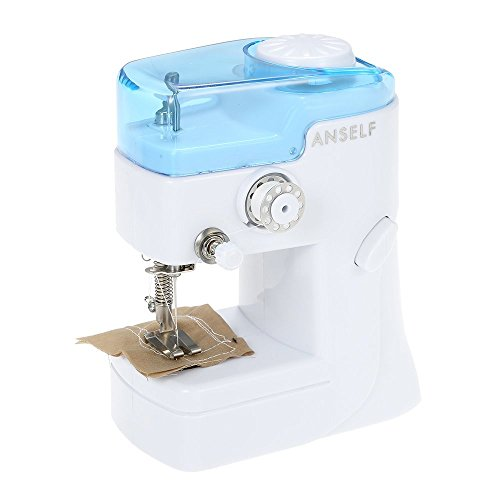 Anself Mini Household Electric Sewing Machine Cordless Quick Stitch Tool for Fabric Clothing Toy Crafts