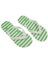 Roxy Jet Set Zehentrenner Badeschuhe Strandschuhe grün/weiß EUR 38 (UK 5) (US 7)