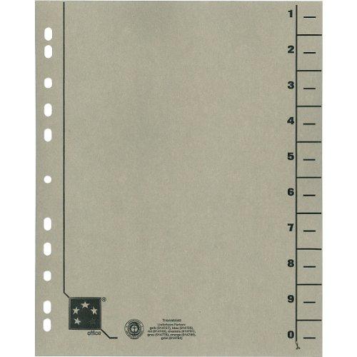 Preisvergleich Produktbild 5 Star 914778 Trennblätter vollfarbig 30x24 cm, RC Karton 230 g/qm Inh.100, grau