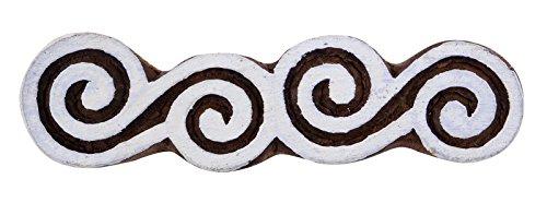 indian Holz Stempel braune Keramik Briefmarken Kunst handgeschnitzten Textildruckblock (Block Muster Drucken Kunst Der)
