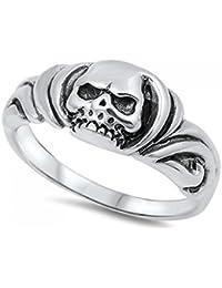 925 Sterling Silver Skull Ring