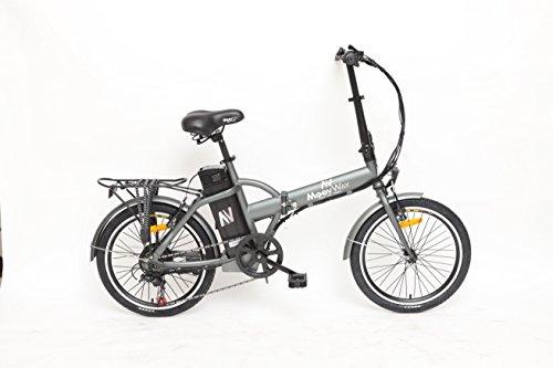 moovway Bicicletta elettrico pieghevole Urban City Grigio Matt