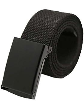 Winwintom Unisex correa hombres Boys cintura normal cintura cinturón de lona Casual (G)